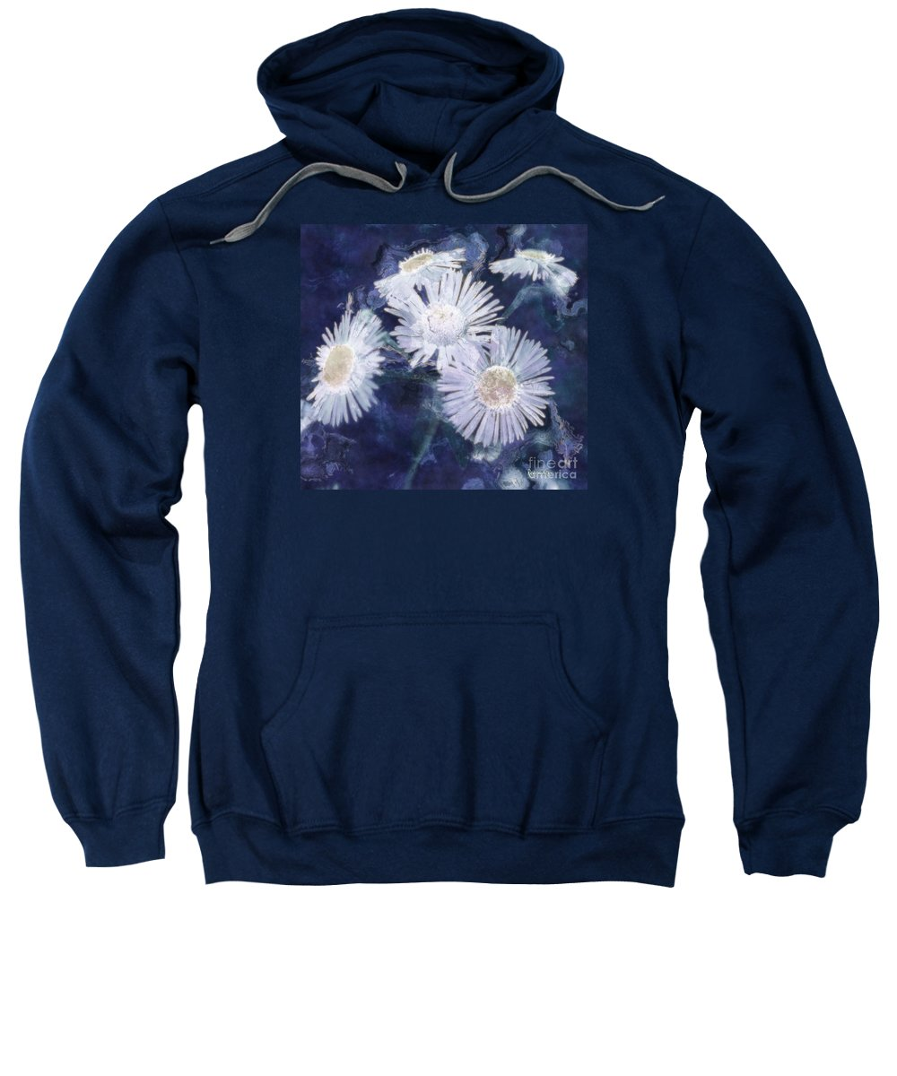 Asters Sweatshirt featuring the painting Ghost Flowers by RC DeWinter