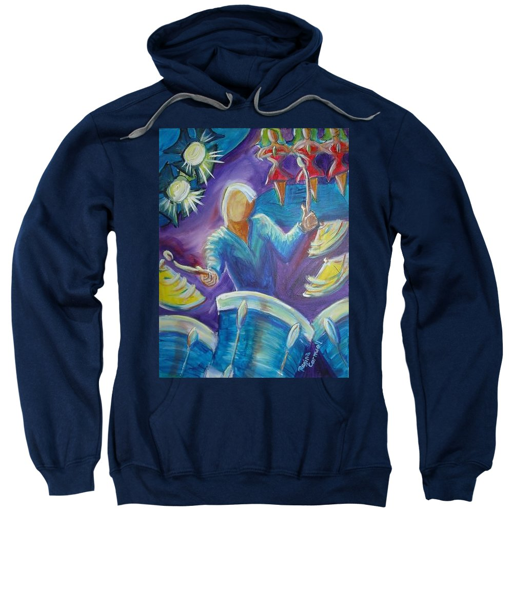 Jazz Sweatshirt featuring the painting Give Me A Beat by Regina Walsh