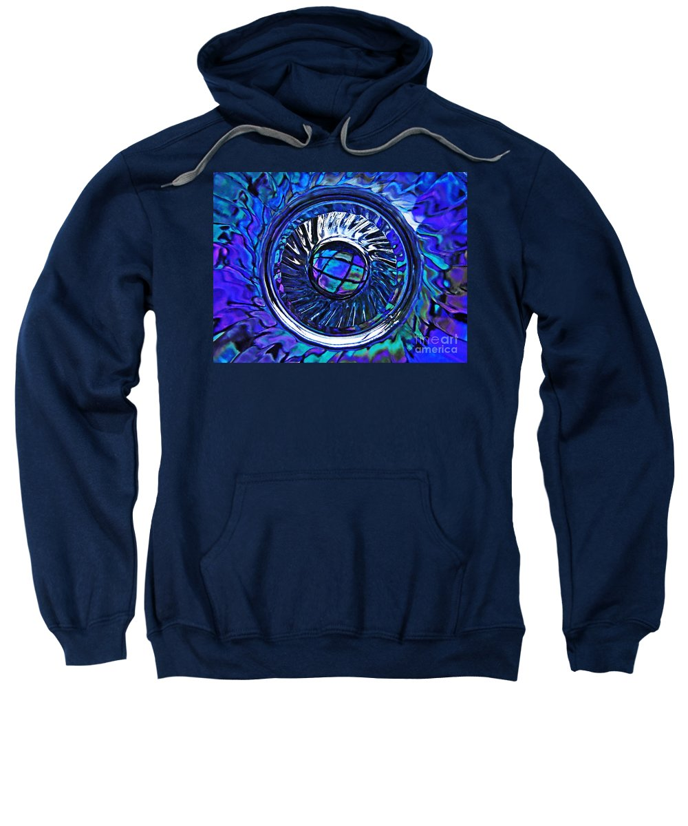 Abstract Sweatshirt featuring the photograph Glass Abstract 480 by Sarah Loft