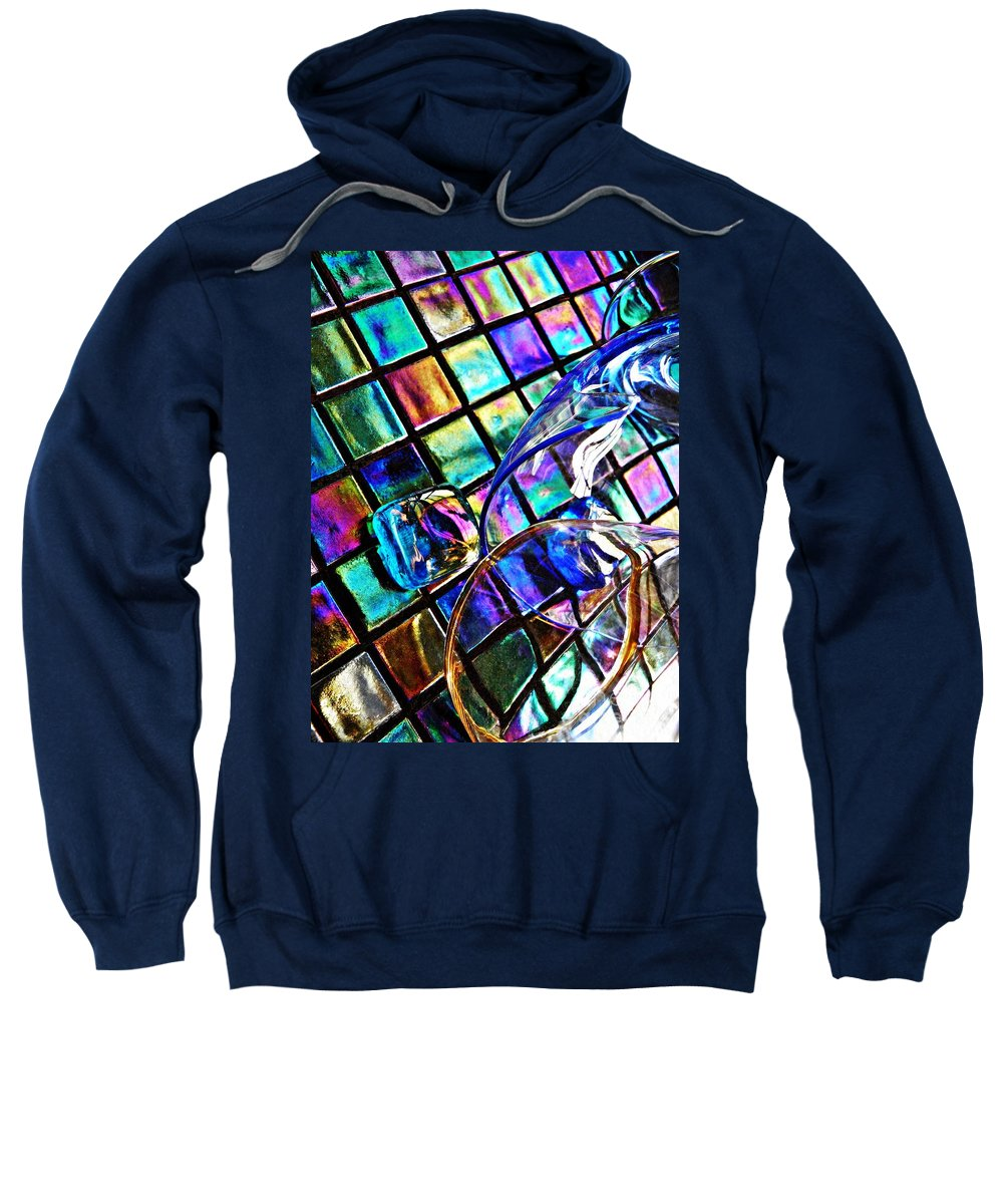 Glass Sweatshirt featuring the photograph Glass Abstract 696 by Sarah Loft