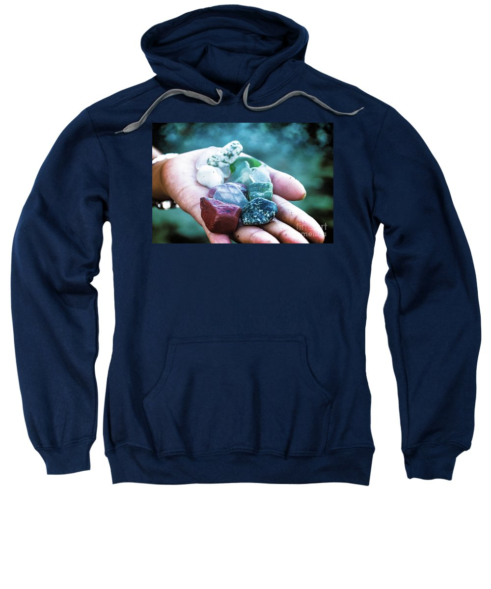 Color Sweatshirt featuring the photograph Glass And Stone by Donald Carr
