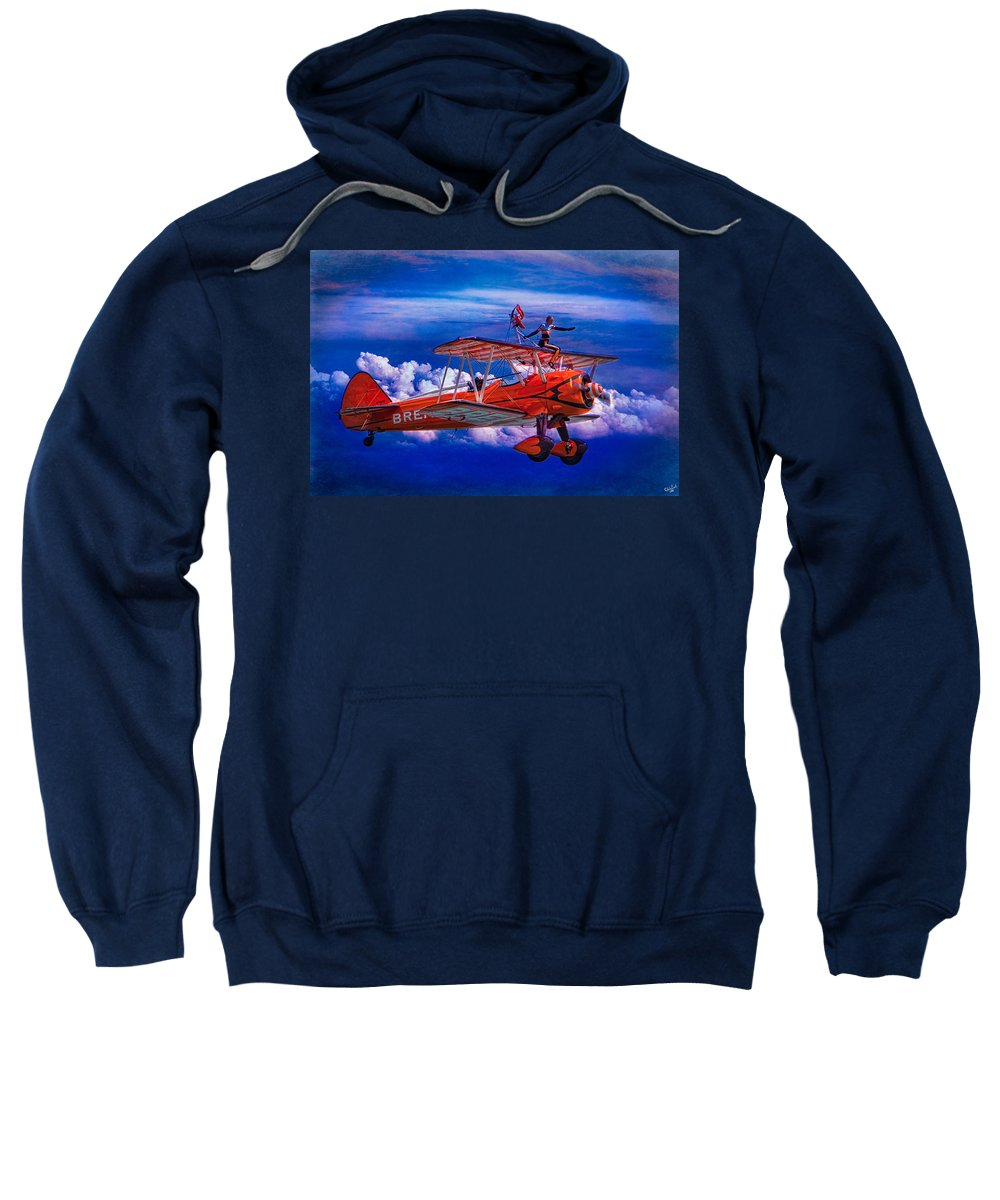 Flight Sweatshirt featuring the photograph Go That Way Said The Navigator by Chris Lord