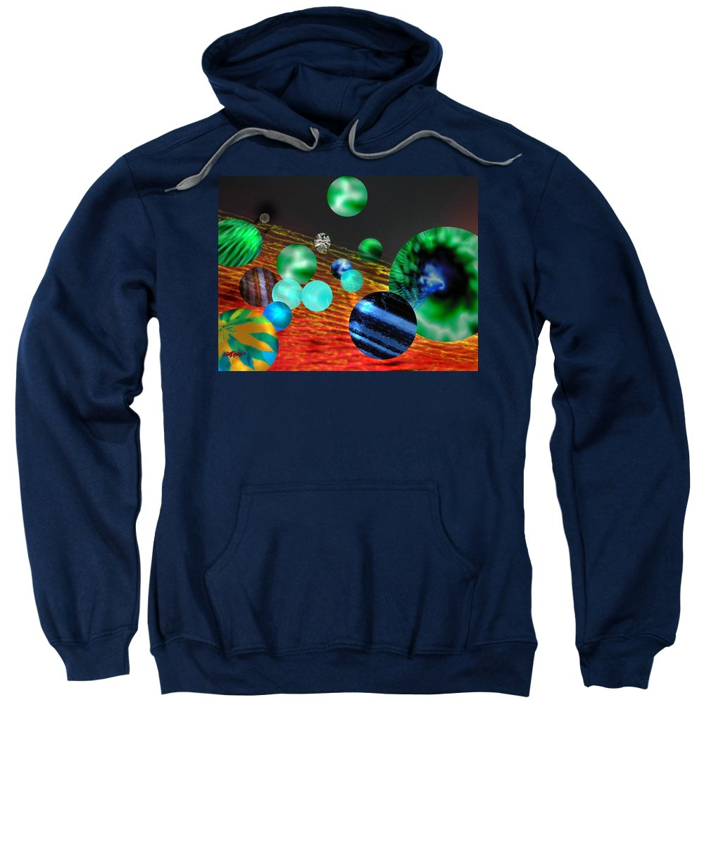 A Tribute To Donovan And His Song cosmic Wheels. A Line In The Song...god Is Playing Marbles With Sweatshirt featuring the digital art God Playing Marbles Tribute To Donovan by Seth Weaver