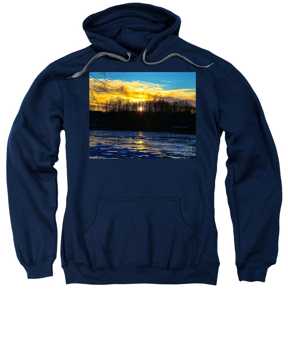 Sun Shine Nature Sweatshirt featuring the photograph Golden Road by Robert Pearson