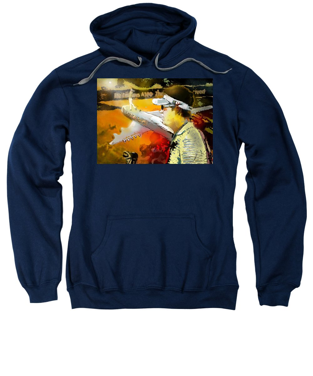 Golf Painting Golfer Sport Pga Tour Club Fontana Vienna Austria Austria Open Sweatshirt featuring the painting Golf In Club Fontana Austria 04 by Miki De Goodaboom