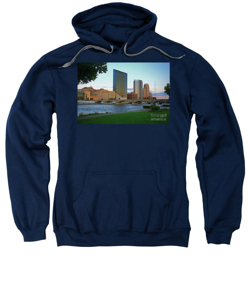 Sky Line Sweatshirt featuring the photograph Grand Rapids Mi-3 by Robert Pearson