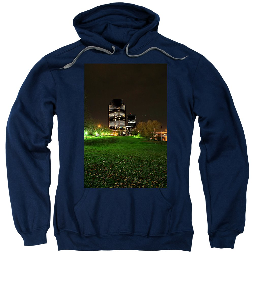 Grand Rapids Mi City Scapes Sweatshirt featuring the photograph Grand Rapids Mi Under The Lights-5 by Robert Pearson