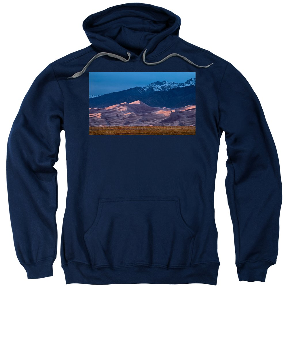 Cloud Sweatshirt featuring the photograph Great Sand Dunes Colorado by Steve Gadomski