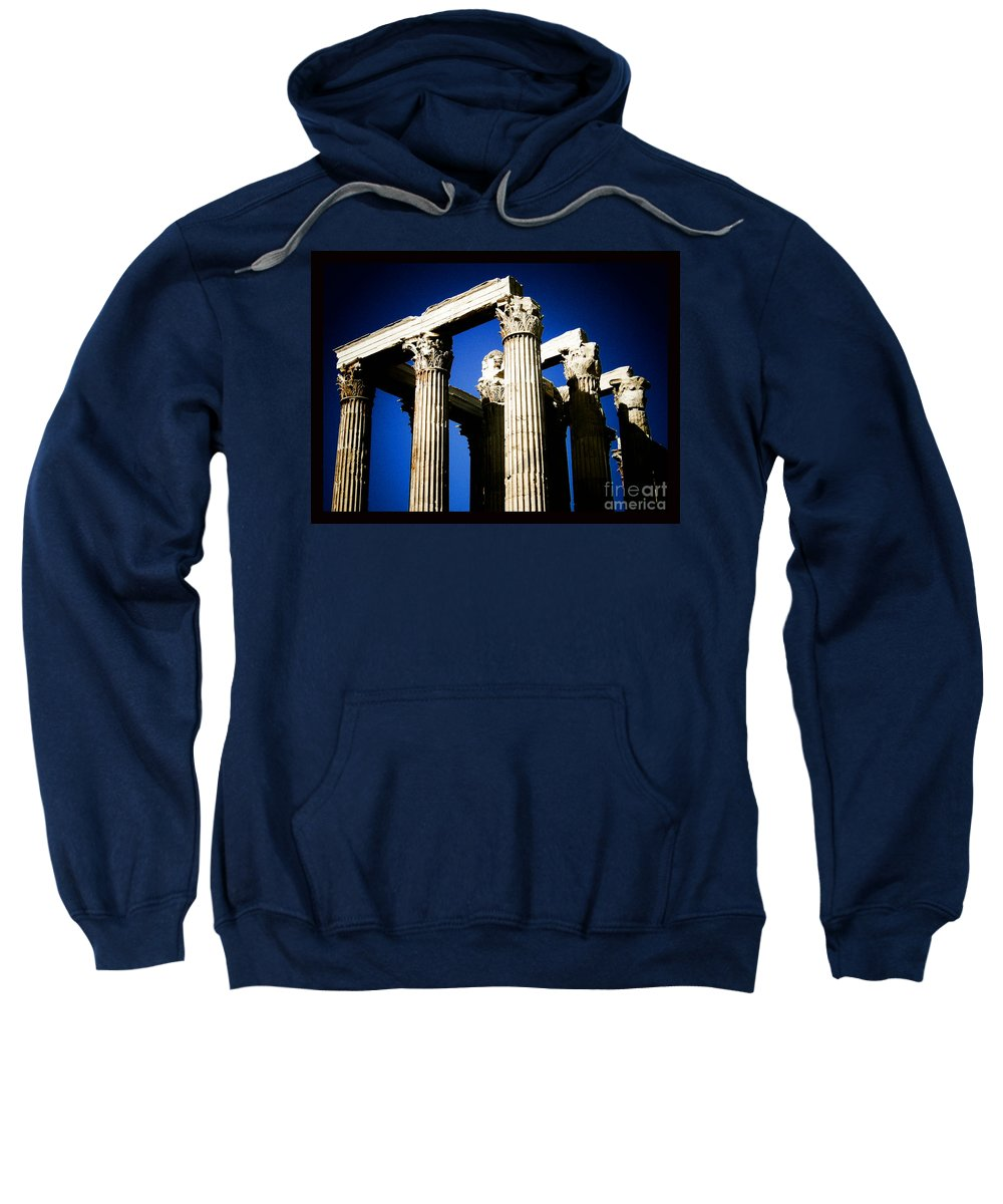Greek Sweatshirt featuring the photograph Greek Pillars by Sonal Dave