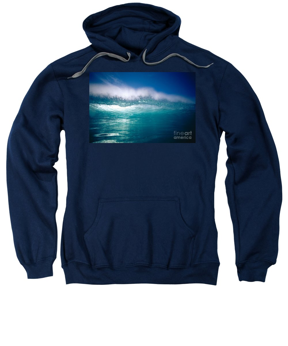 Backlit Sweatshirt featuring the photograph Green Wave by Vince Cavataio - Printscapes