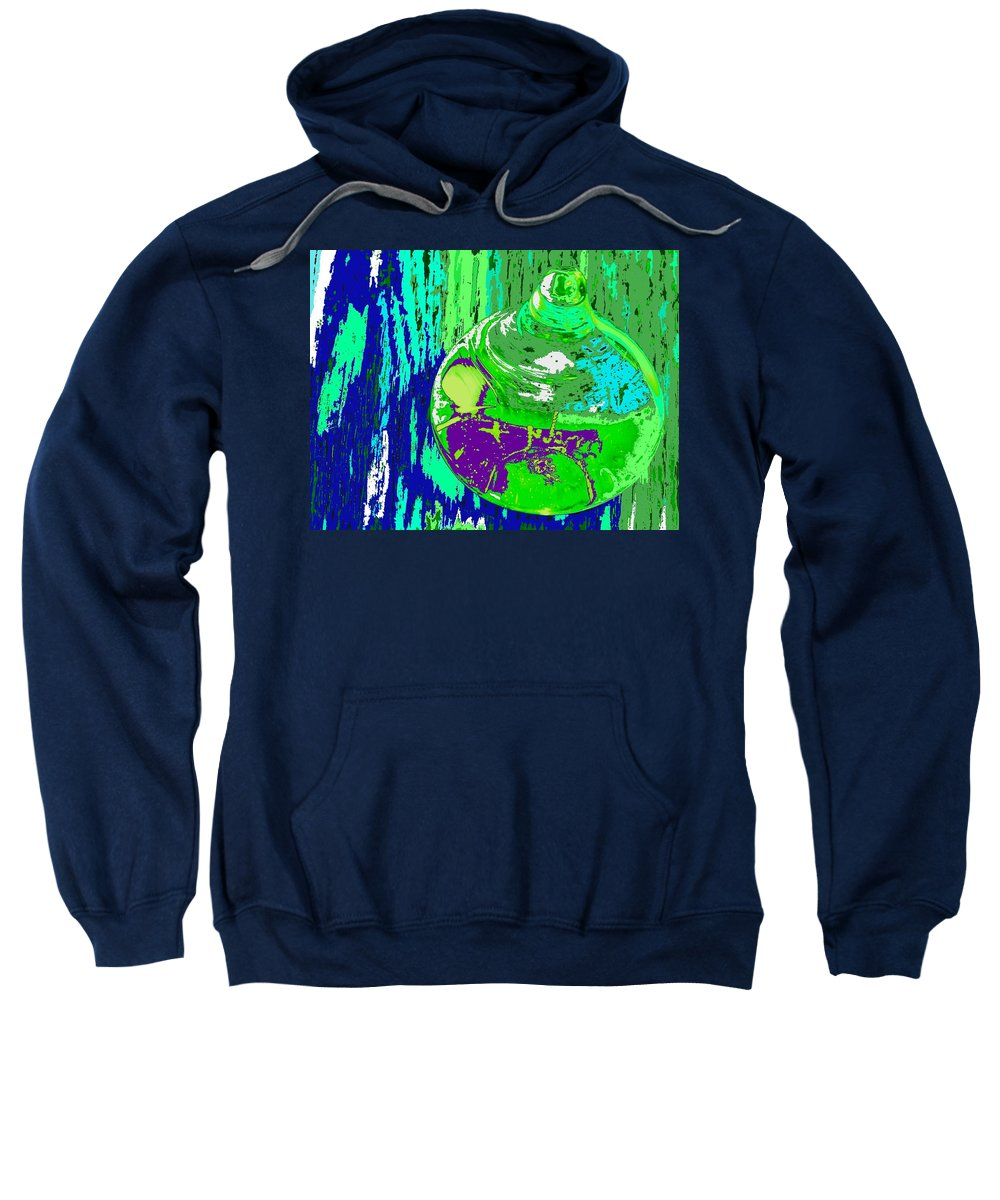 Abstract Sweatshirt featuring the photograph Green Whirl by Ian MacDonald