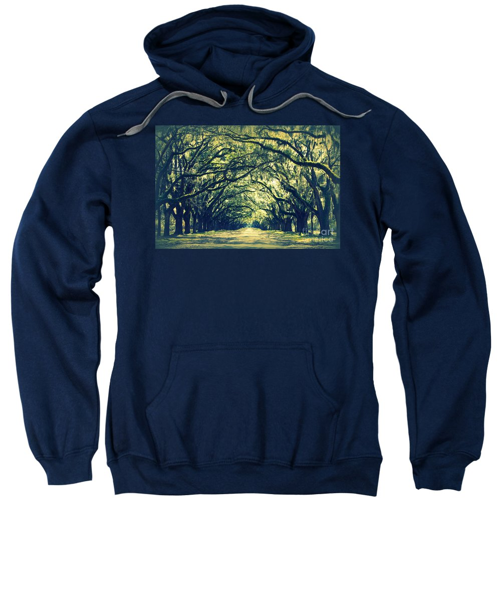 Green Sweatshirt featuring the photograph Green World by Carol Groenen