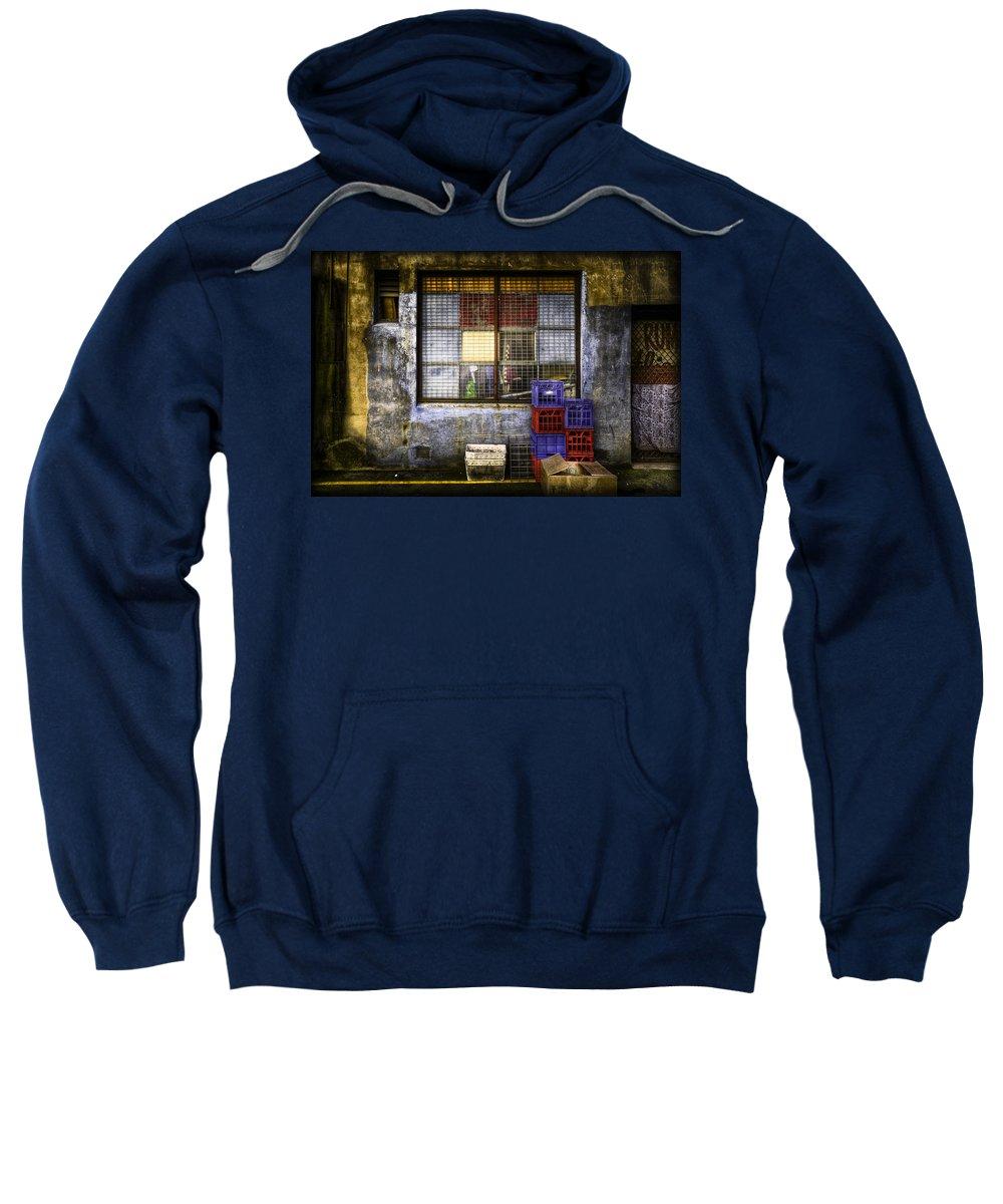 Grunge Sweatshirt featuring the photograph Grunge Dept by Wayne Sherriff