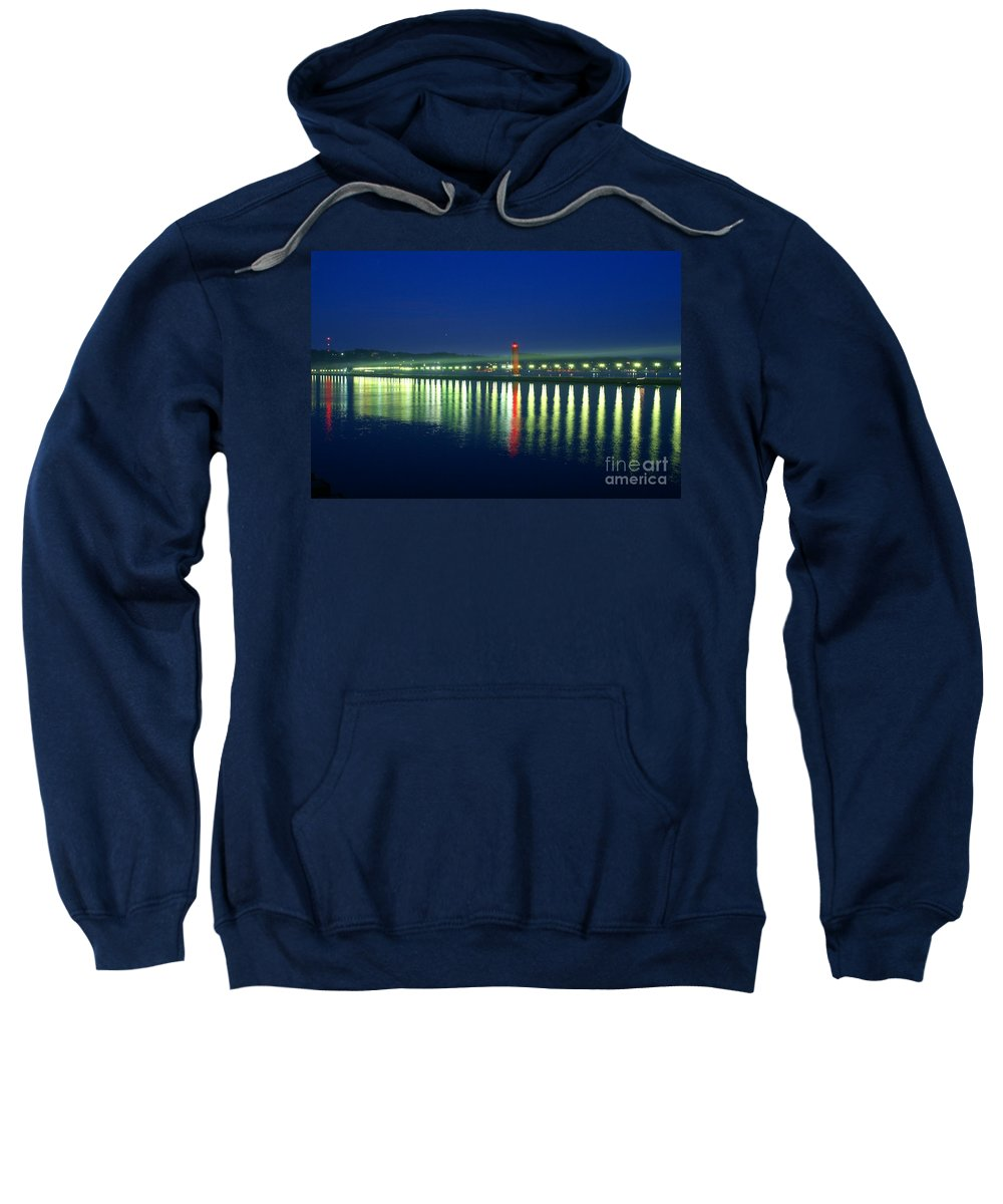 Pier Sweatshirt featuring the photograph Guiding Light by Robert Pearson