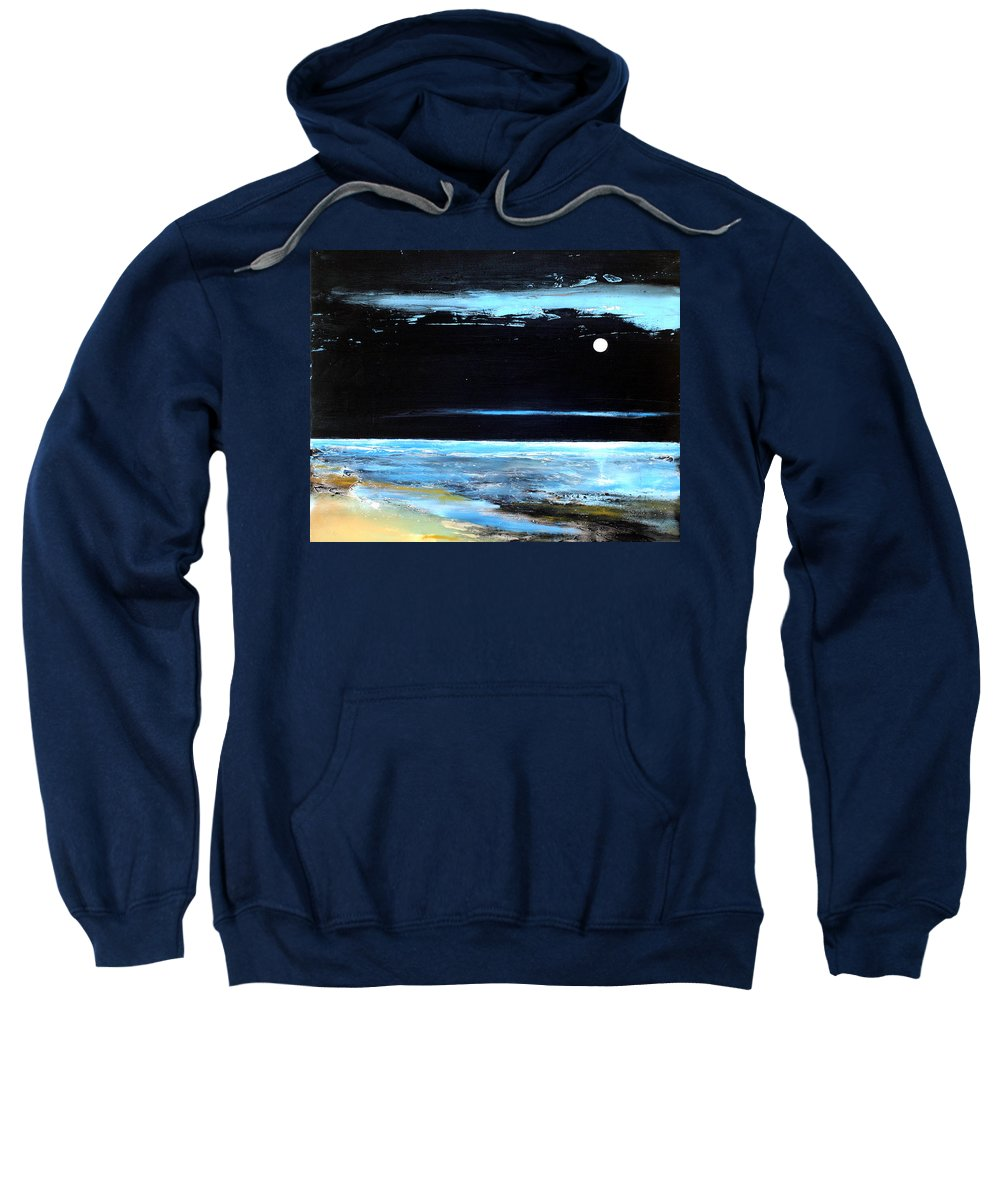 Landscape Sweatshirt featuring the painting Guiding Light by Toni Grote