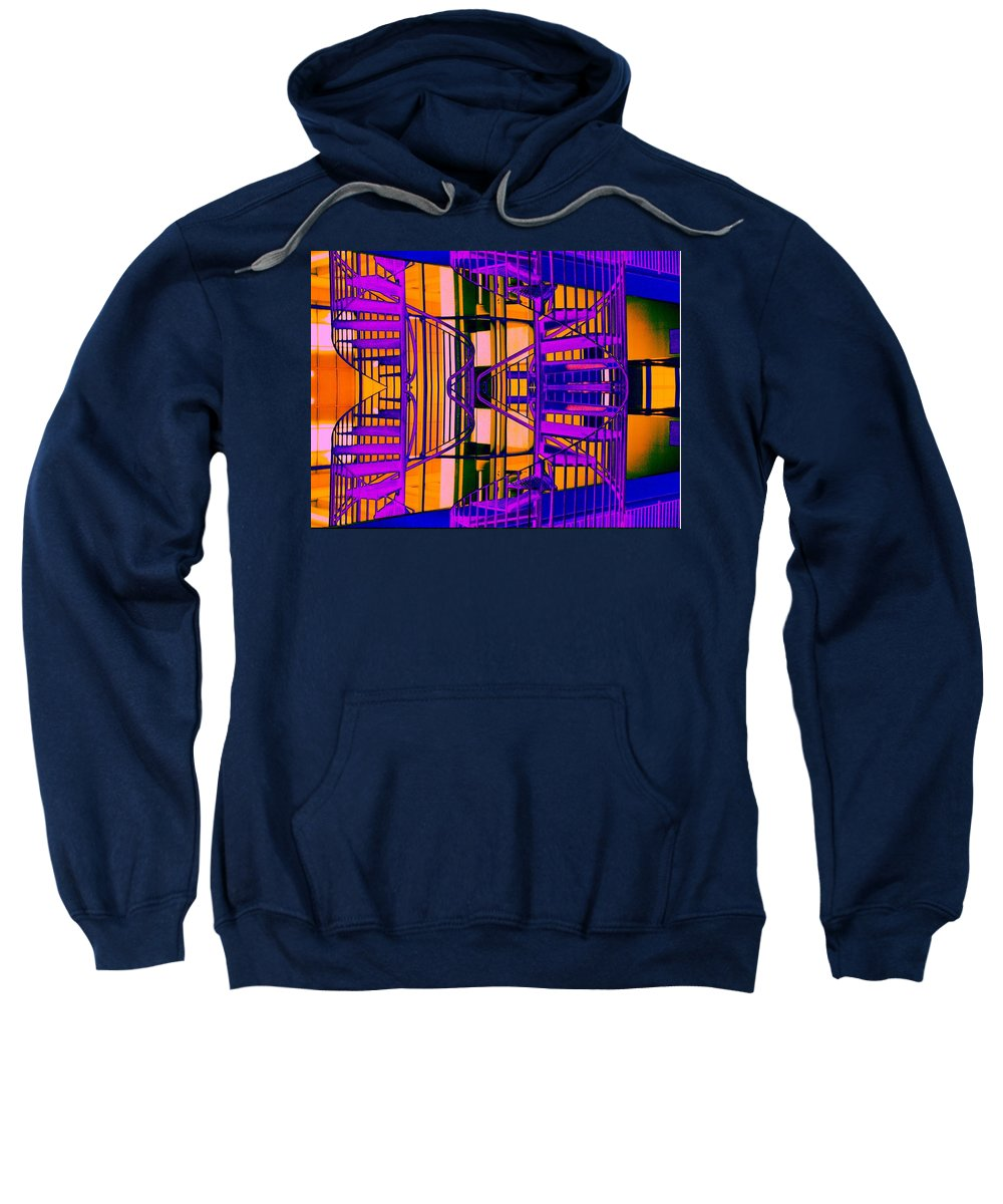 Staircase Sweatshirt featuring the photograph Gym Staircase by Tim Allen