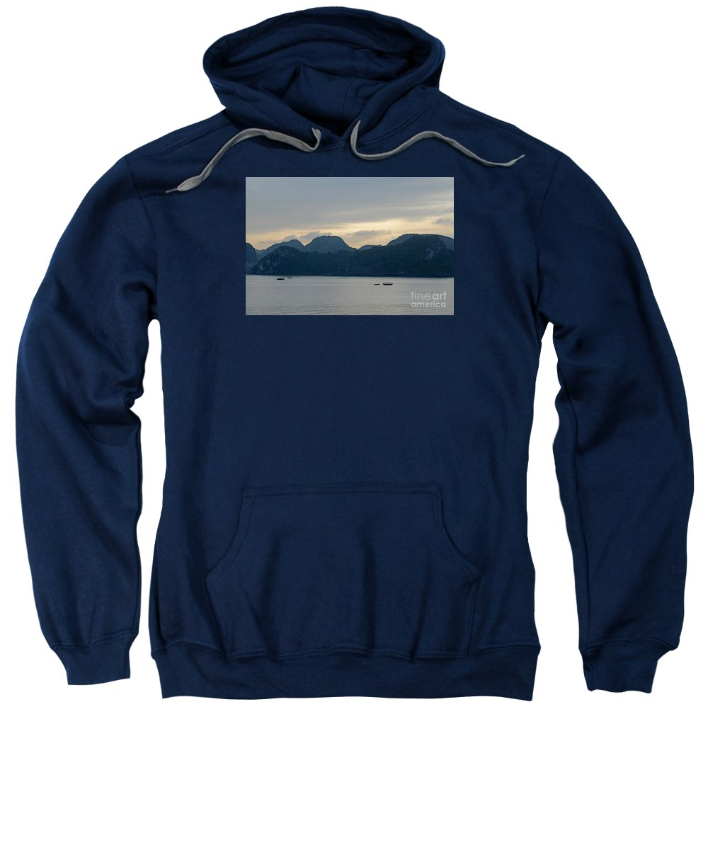 Magical Sweatshirt featuring the photograph Halong Bay Sunset by Tom Wurl