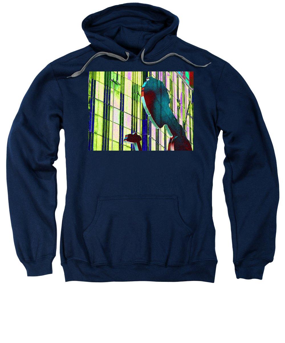 Seattle Sweatshirt featuring the digital art Hammering Man 3 by Tim Allen