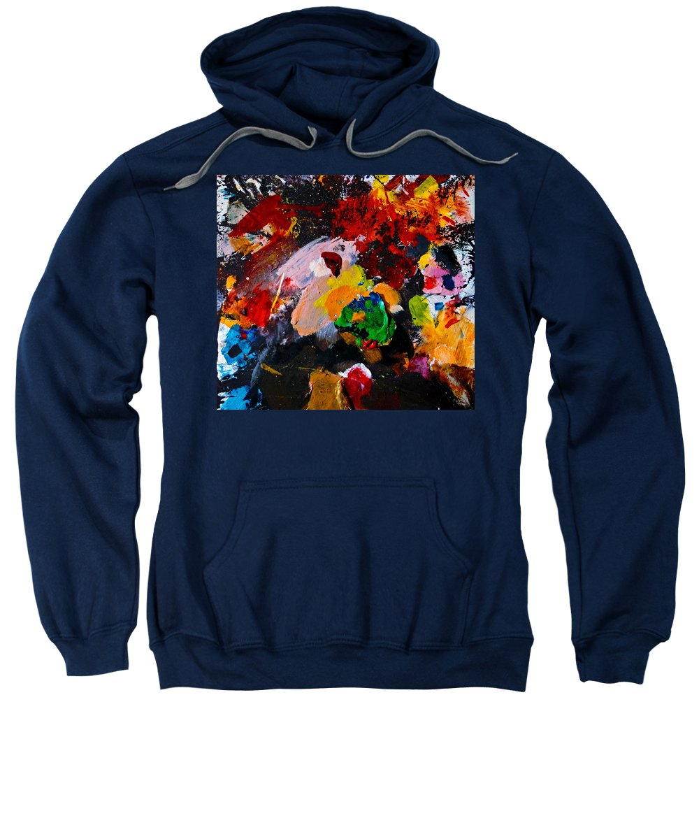 Abstract Sweatshirt featuring the painting Happy Harmony by Natalie Holland