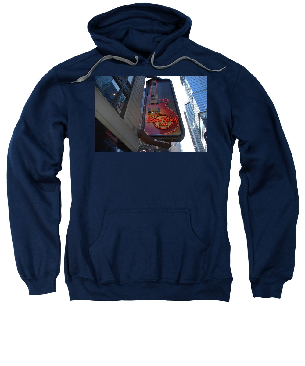 Music Sweatshirt featuring the photograph Hard Rock Cafe N Y C by Rob Hans