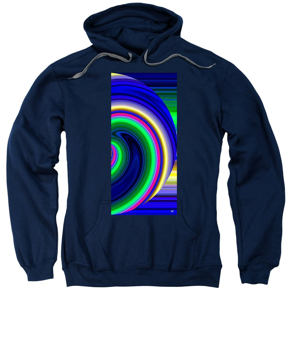 Abstract Sweatshirt featuring the digital art Harmony 19 by Will Borden