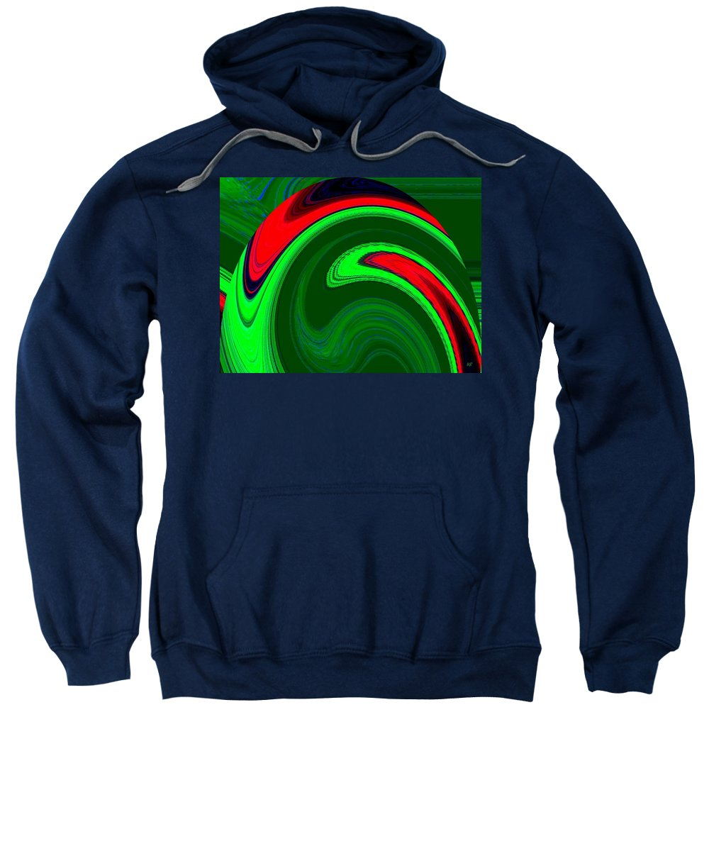 Abstract Sweatshirt featuring the digital art Harmony 20 by Will Borden