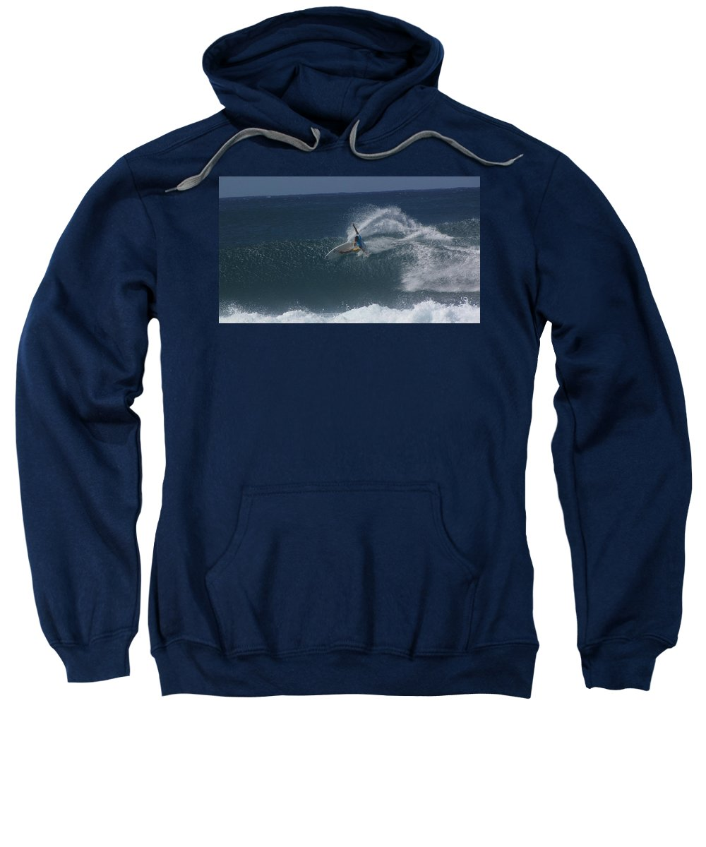 Surfer Sweatshirt featuring the photograph Hawaii Pipeline by Sarah Houser