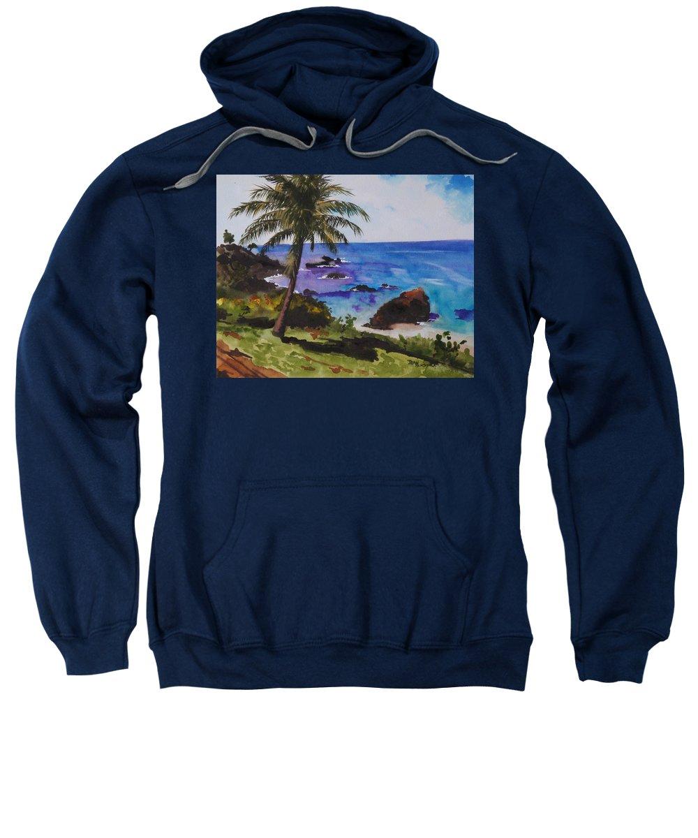 Hawaii Sweatshirt featuring the painting Hawaiian Splendor by Jean Blackmer