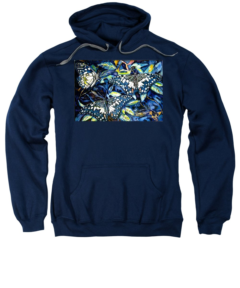 Butterfly Artwork Sweatshirt featuring the painting Heavenly Jewels by Norma Boeckler