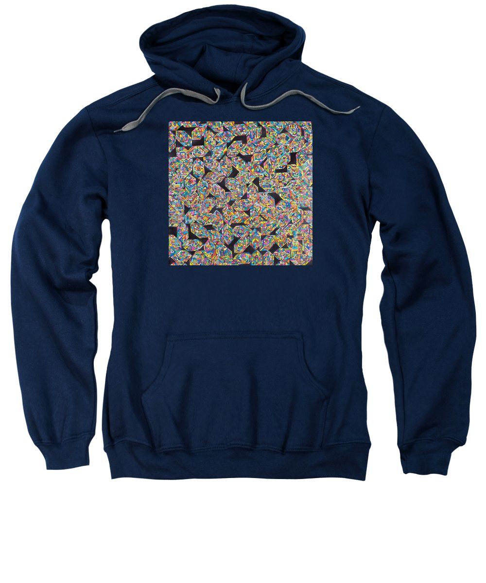 Synesthetic Painting Made Based On The Isolation Of Heavy Neutrinos Sweatshirt featuring the painting Heavy Neutrinos by George Sanen