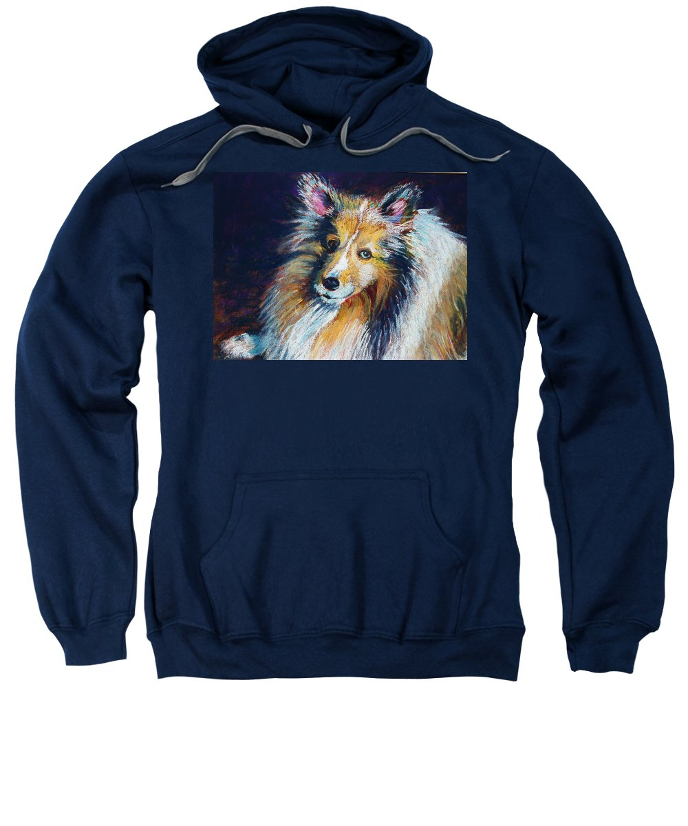 Dog Sweatshirt featuring the painting Her Name Is Lola by Laurie Paci