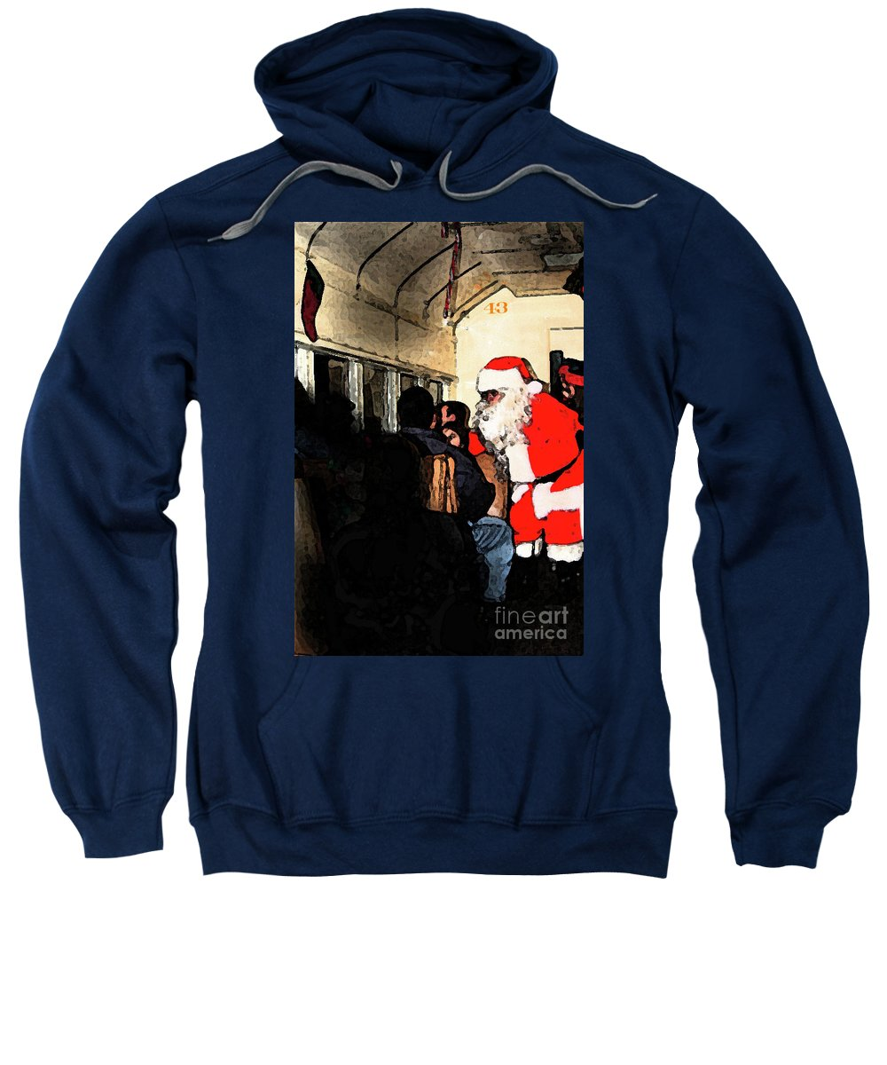 Santa Claus Sweatshirt featuring the photograph Here Come Santa by Kim Henderson