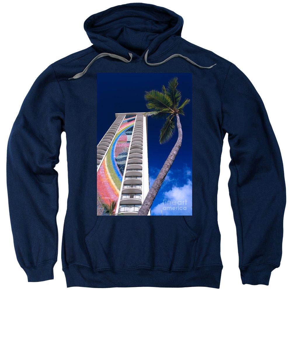 Afternoon Sweatshirt featuring the photograph Hilton Hawaiian Village by Bill Brennan - Printscapes