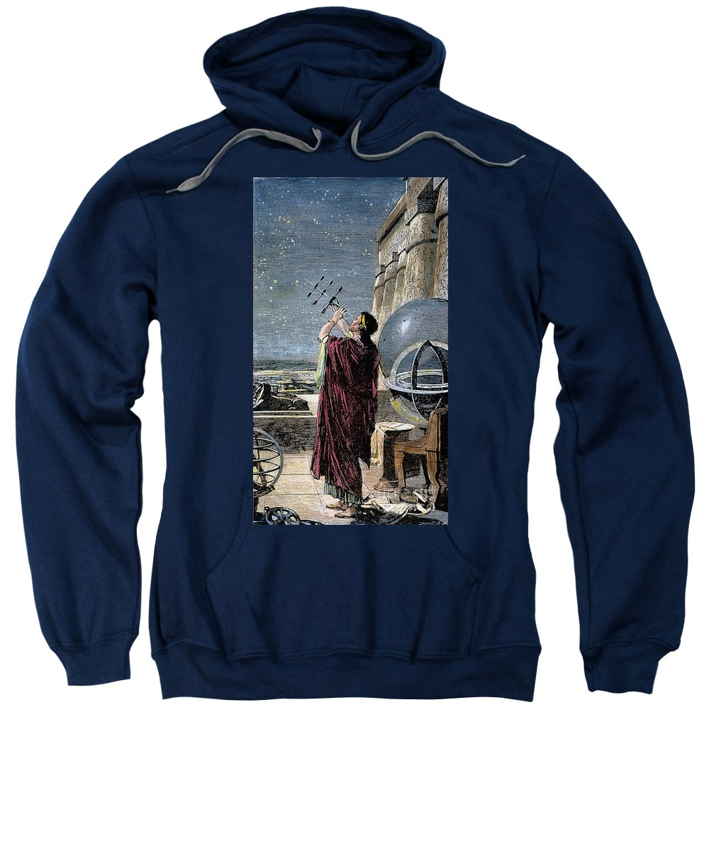 100 B.c Sweatshirt featuring the photograph Hipparchus (146-127 Bc) by Granger