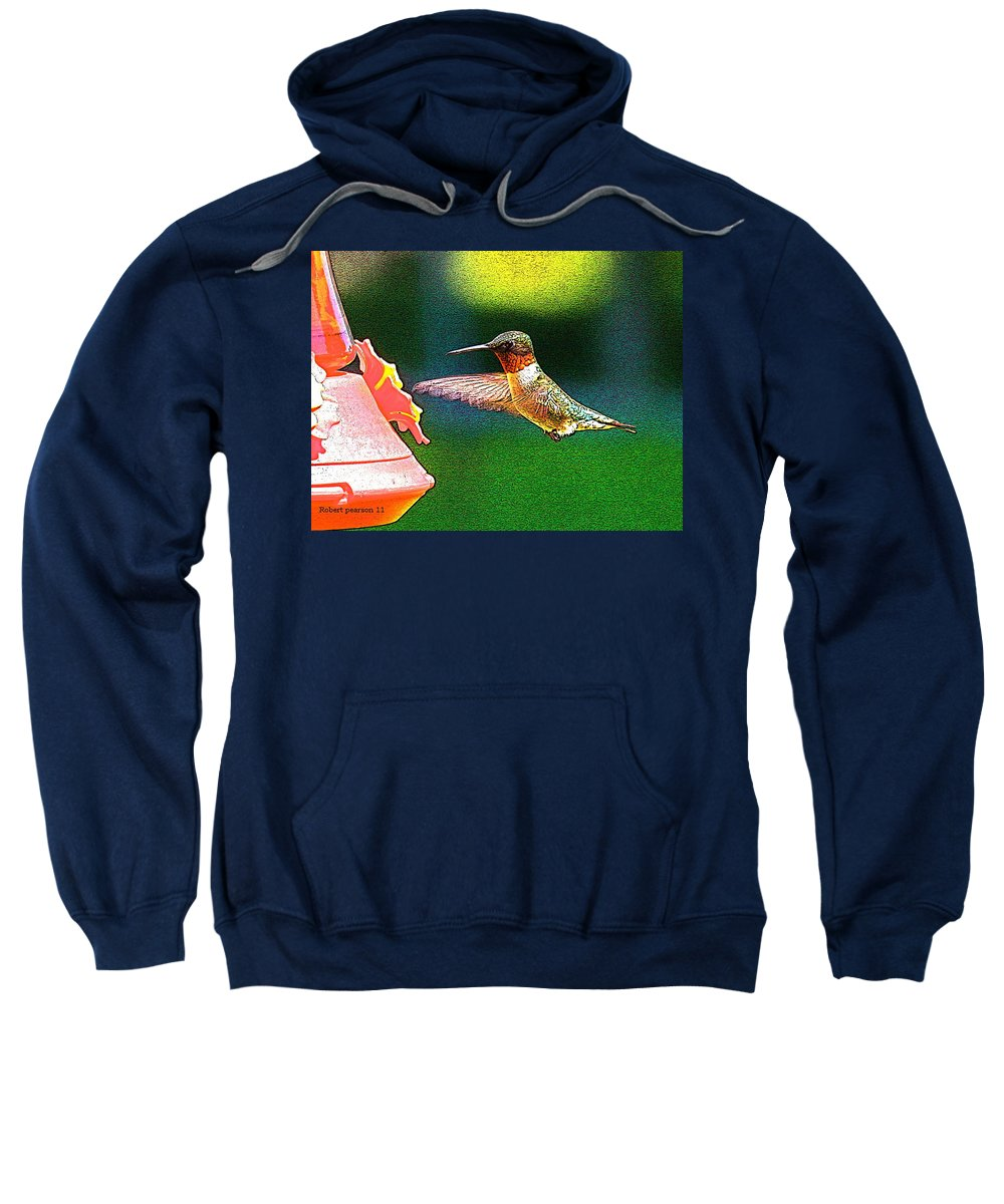 Humming Bird Sweatshirt featuring the photograph Hmmm by Robert Pearson