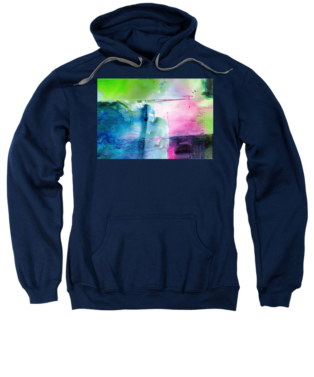 Abstract Sweatshirt featuring the painting Holey Boulder by Janice Nabors Raiteri