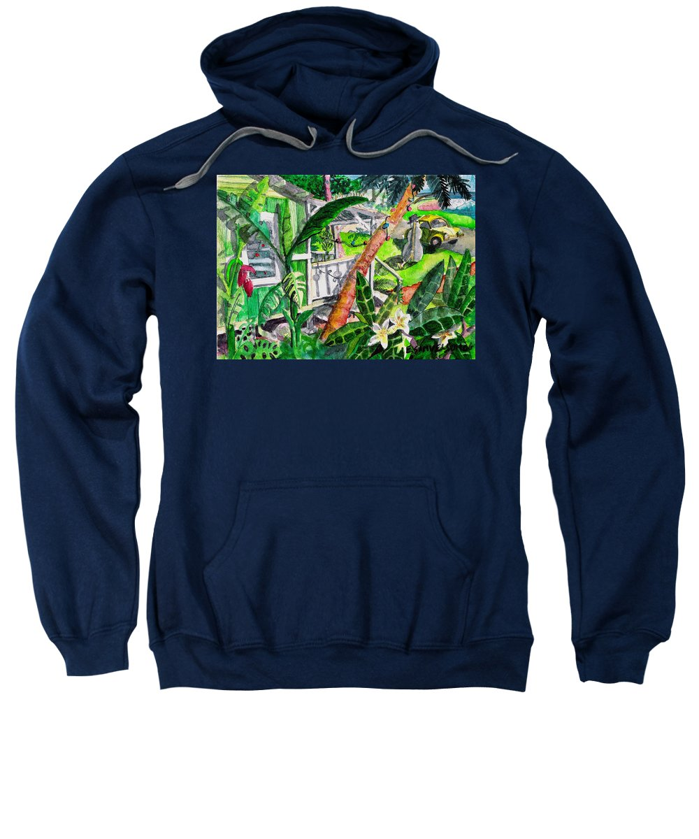 Christmas Sweatshirt featuring the painting Home For The Holidays by Eric Samuelson