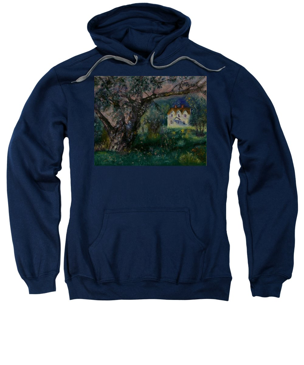 Landscape Sweatshirt featuring the painting Homestead by Stephen King