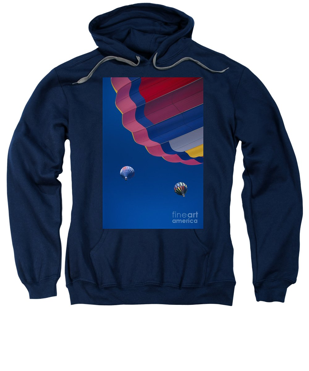 Air Sweatshirt featuring the photograph Hot Air Balloons by Greg Vaughn - Printscapes