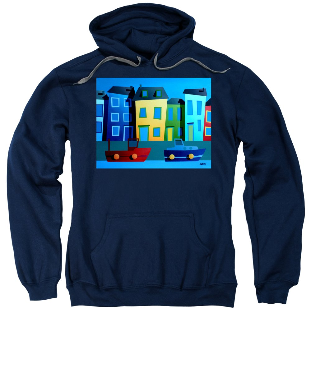 Dylan Cotton Sweatshirt featuring the painting House Party 9 by Dylan Cotton