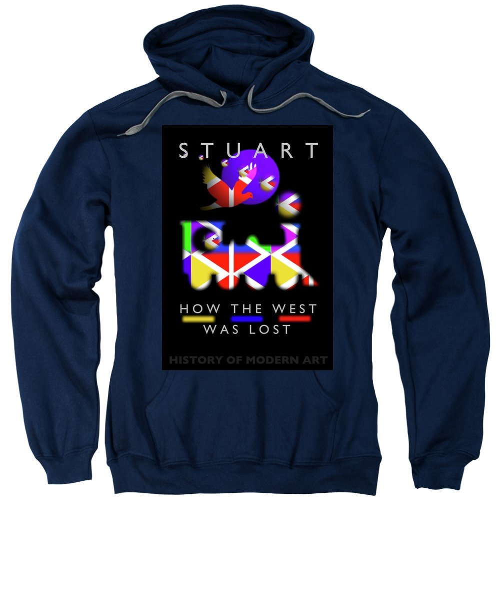 Railway Sweatshirt featuring the painting How The West Was Lost by Charles Stuart