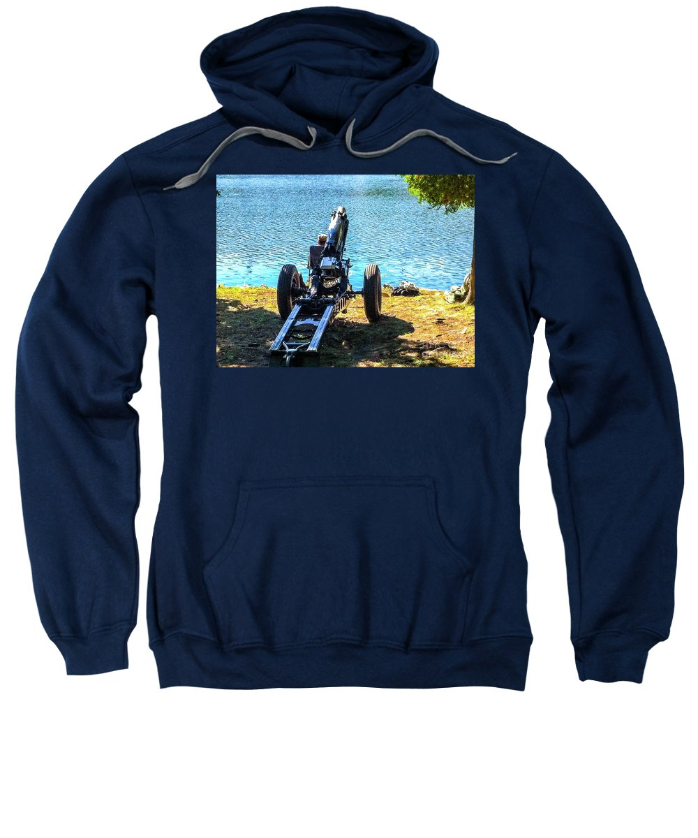 This Is A Photo Of A Howitzer At West Point Military Academy Sweatshirt featuring the photograph Howizer by William Rogers