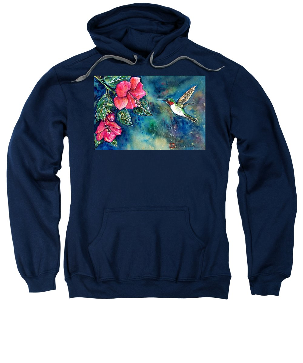 Birds Sweatshirt featuring the painting Hummingbird by Norma Boeckler