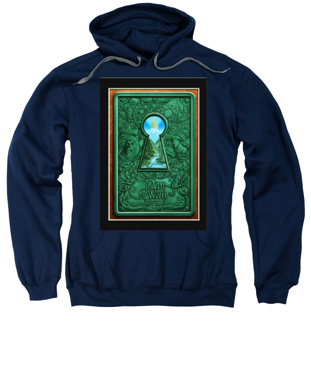 Inspirations Sweatshirt featuring the painting I Am The Way by Cliff Hawley