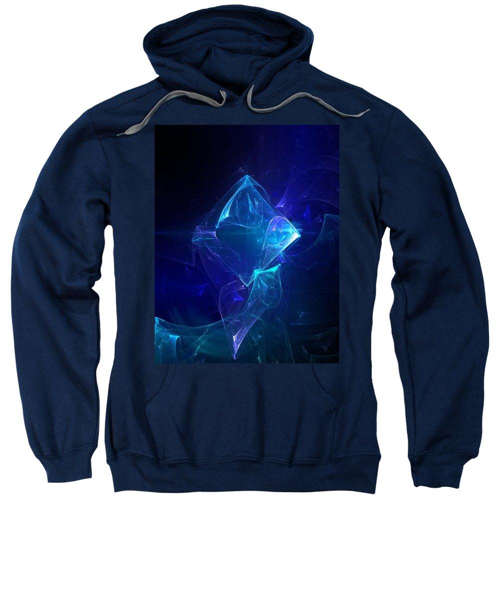 Abstract Digital Photo Sweatshirt featuring the digital art I Had Too Much To Dream Last Night by David Lane