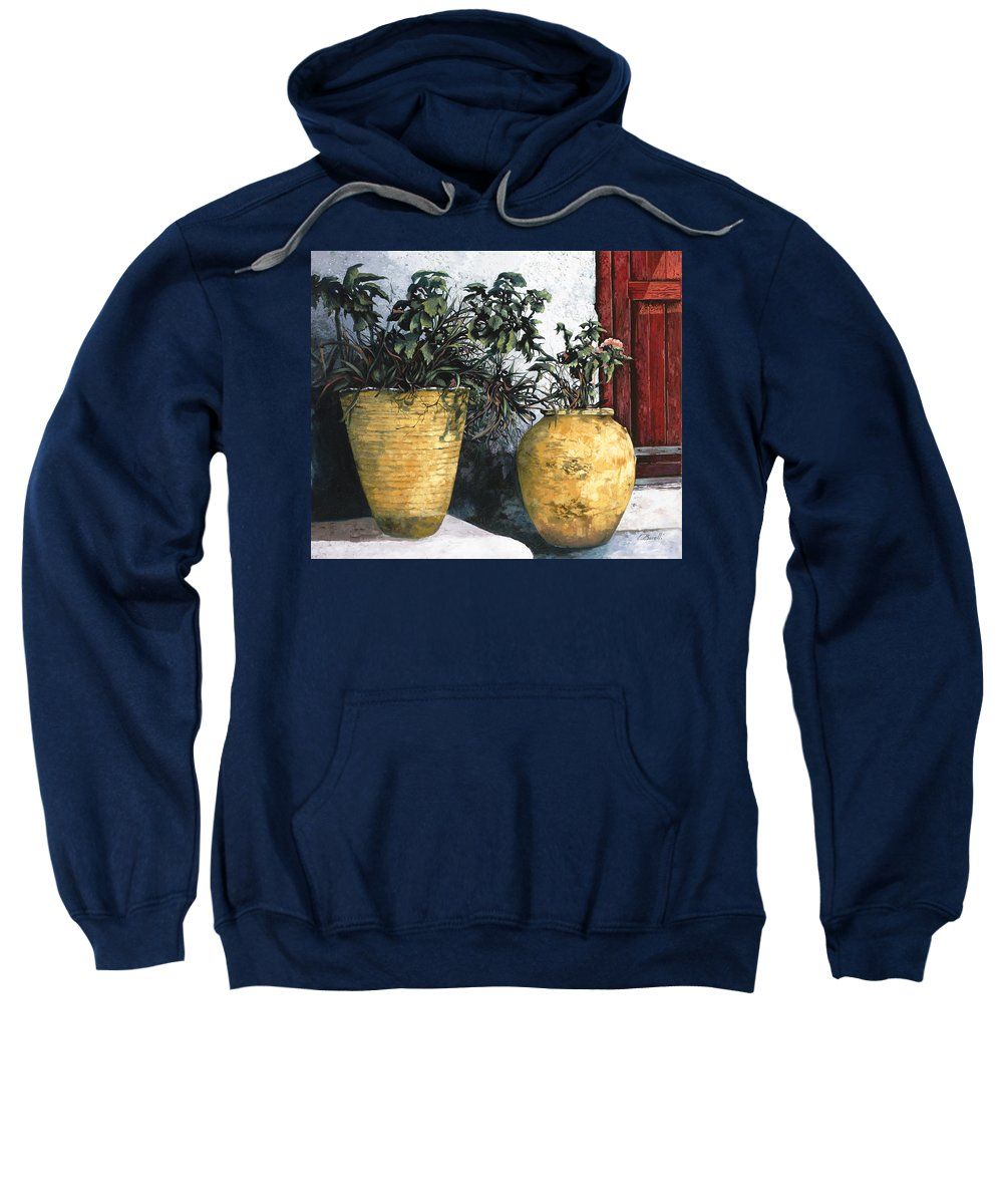 Vases Sweatshirt featuring the painting I Vasi by Guido Borelli
