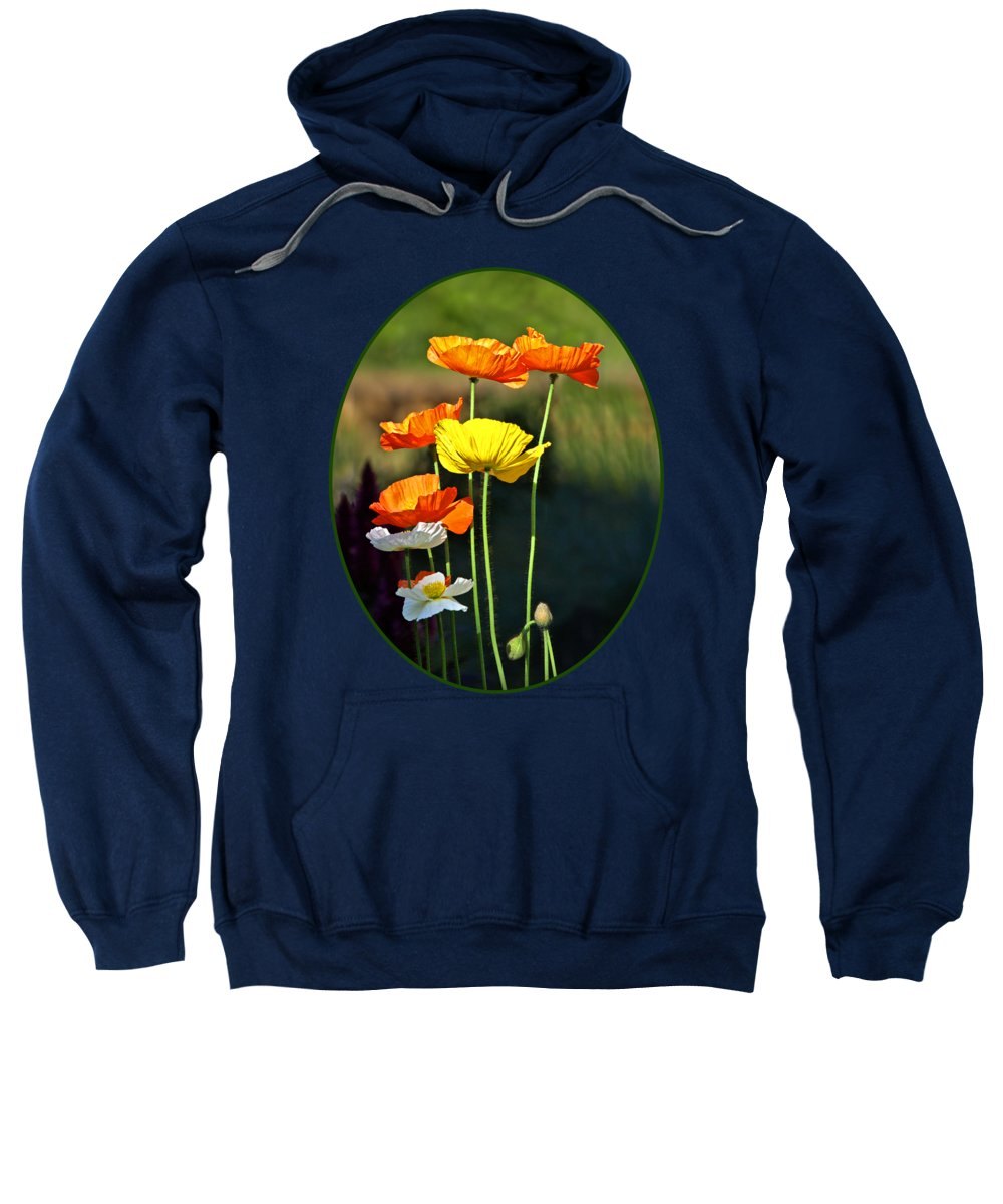 Poppies Sweatshirt featuring the photograph Iceland Poppies In The Sun by Gill Billington