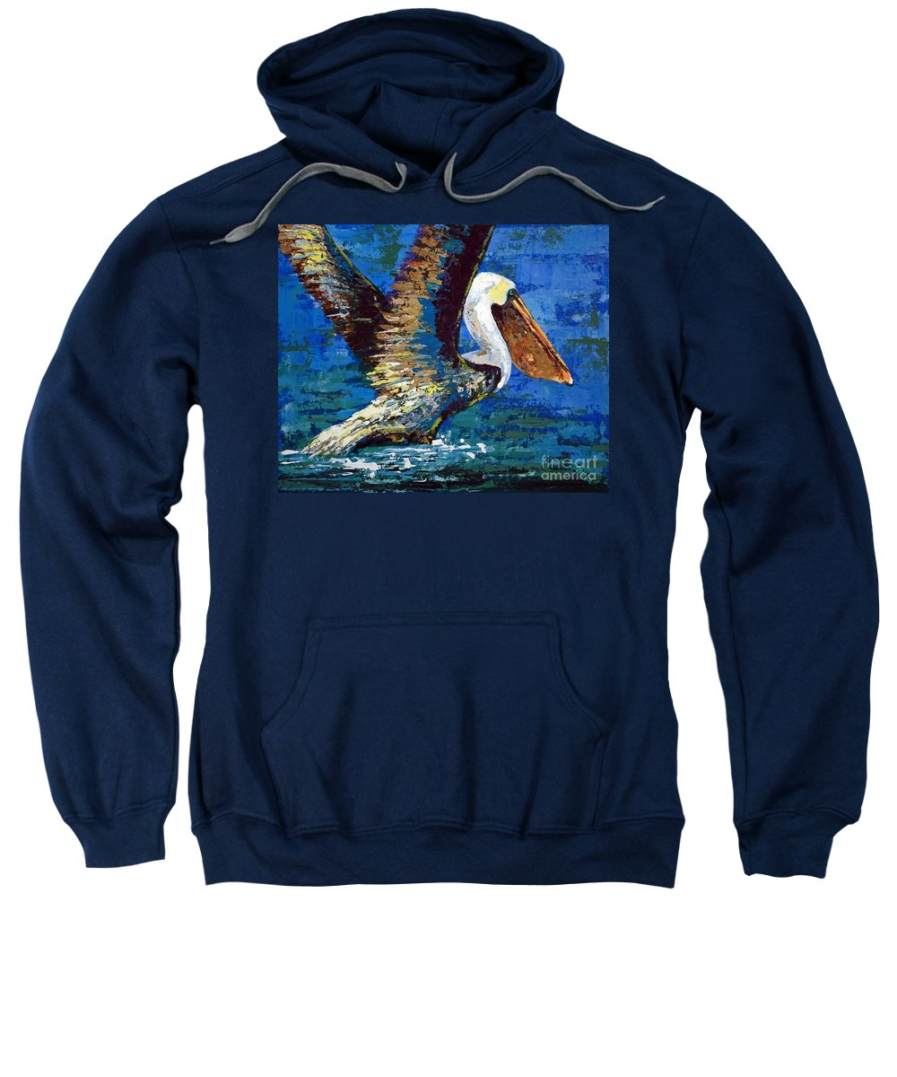 Acrylic Sweatshirt featuring the painting Im Outa Here by Suzanne McKee