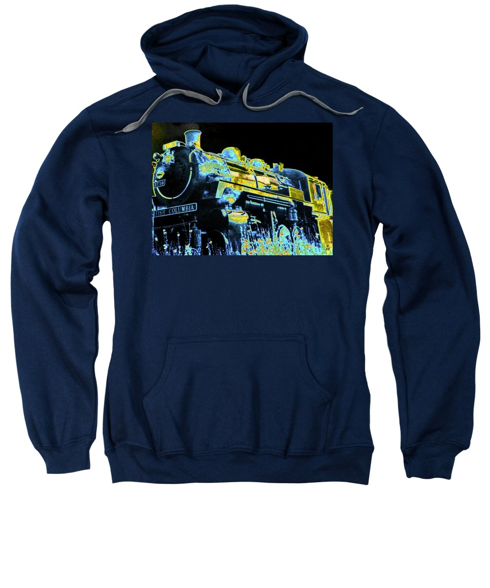 Impressions Sweatshirt featuring the digital art Impressions 11 by Will Borden