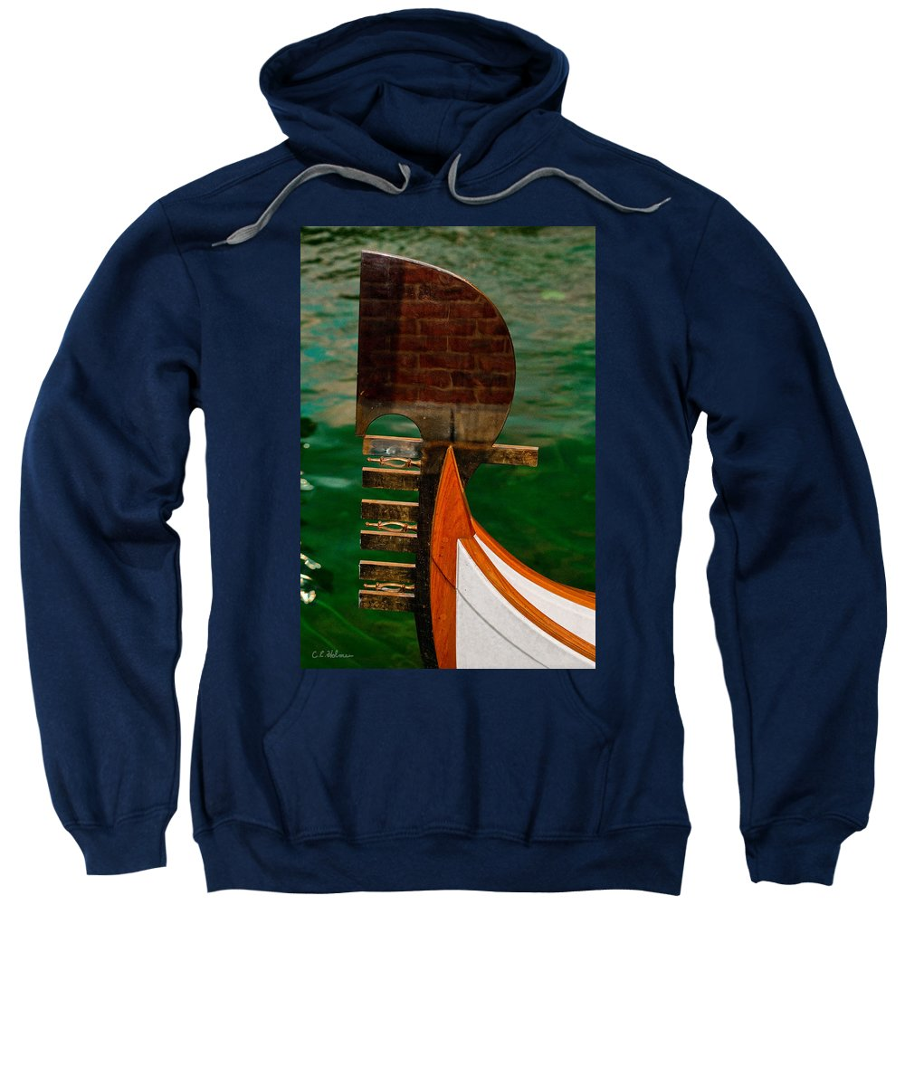 Boat Sweatshirt featuring the photograph In Reflection by Christopher Holmes